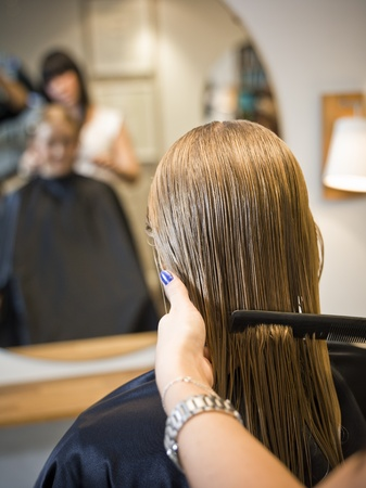 Situation in a Hair Salon Stock Photo - 11223870