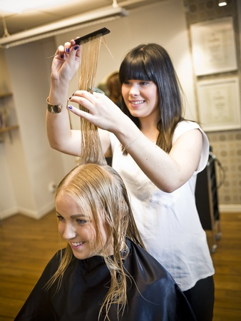 Lage in einem Friseursalon
