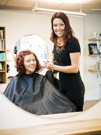 Situation in einem Friseursalon