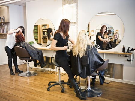 human hair: Situation in a Hair salon