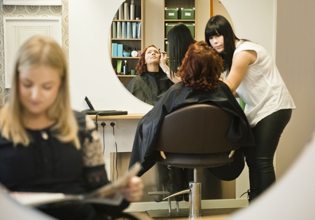Situation in a Hair salon photo
