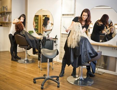 peluquerias: Situaci�n en un sal�n de belleza Foto de archivo