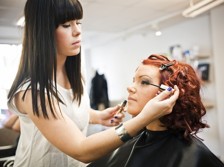 Make-up situation in a Beauty spa Stock Photo - 11223852