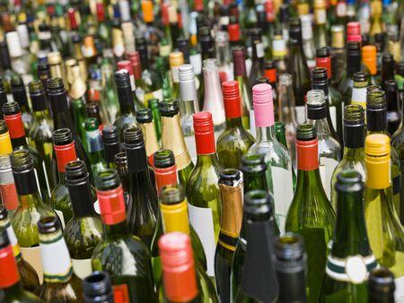 Full Frame of empty bottles photo