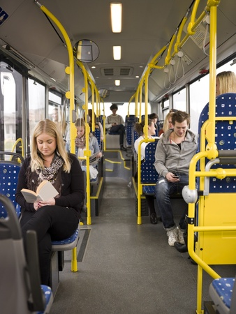 Large group of People going by bus Stock Photo - 11223920