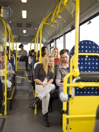 Large group of People going by bus Stock Photo - 11223953