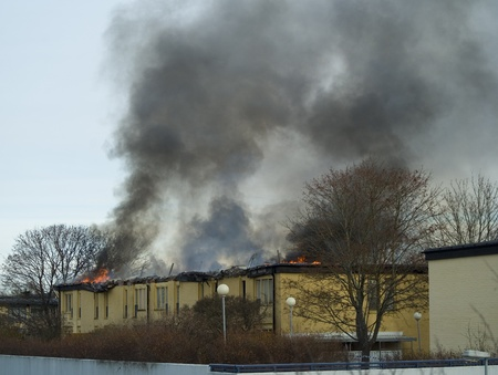 Apartment Block is on fire in the middle of the day