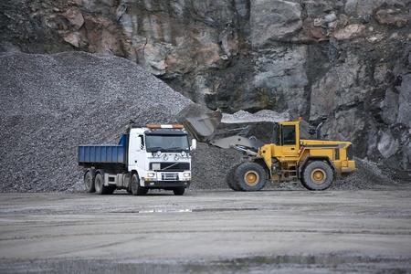 Trucks at a pit mine Stock Photo - 12271982
