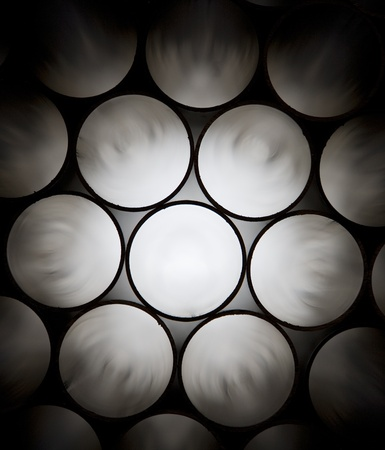 Industrial pipes as a pattern photo