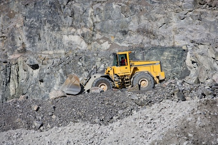 Truck at a pit mine