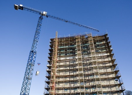 Construction site from low angle view Stock Photo - 12271975