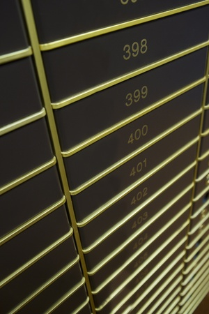 safety deposit box: Large group of Safety Boxes