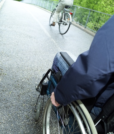 hospitalization: Close up of a man in wheel chair