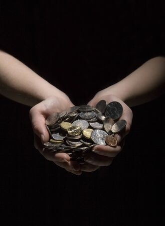 Hans with a large group of coins Stock Photo - 12303274
