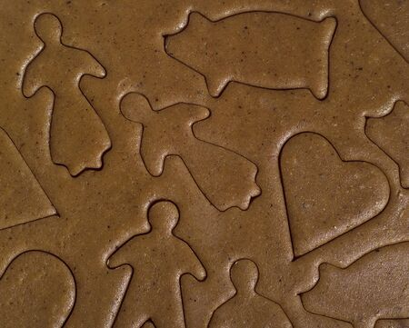 Full Frame of unbaked Gingerbread photo