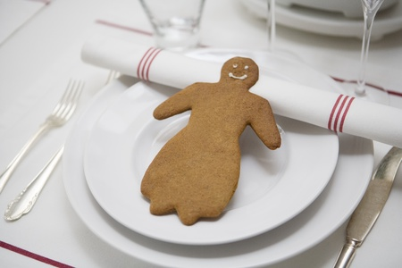 Gingerbread Figure as decoration on a table photo