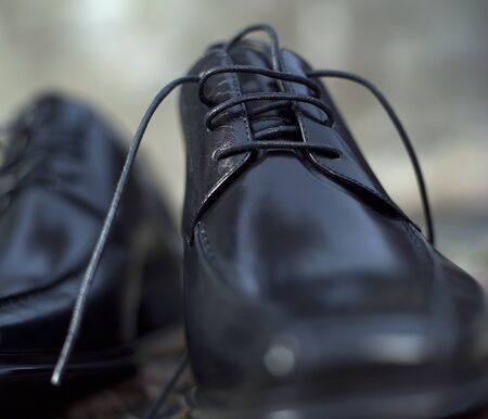 Close up of Male shoes photo
