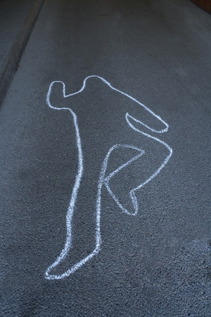 Detail from a crime scene photo
