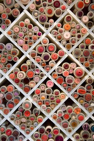 Full Frame of Thread Reels Stock Photo - 12601256