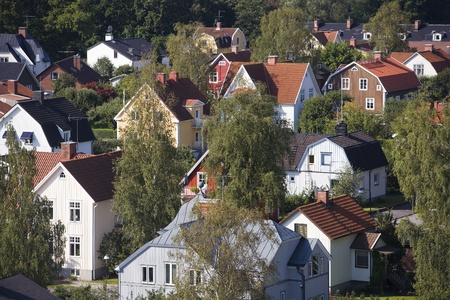 neighborhood: Neighbourhood from High Angle view Editorial