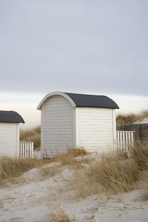 White Boathouse on the beach