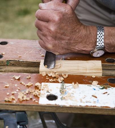 Close up of wood handwork photo