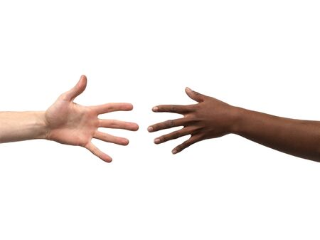 rassismus: Zwei H�nde Erreichen gegenseitig