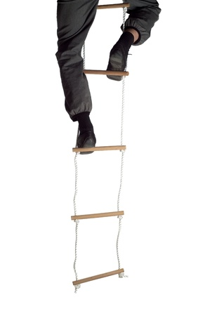 rope ladder: Climbing up the Rope Ladder
