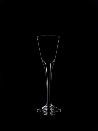 Liqueur glass Still Life on black background Stock Photo - 12600883