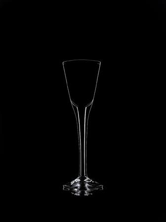 Liqueur glass Still Life on black background Stock Photo - 12600883