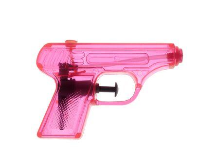 watergun: Pink watergun on white background Stock Photo