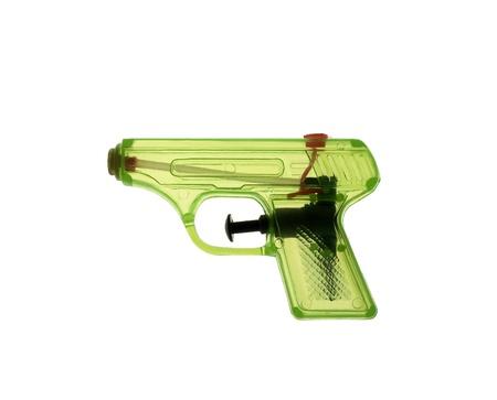 watergun: Green watergun on white background