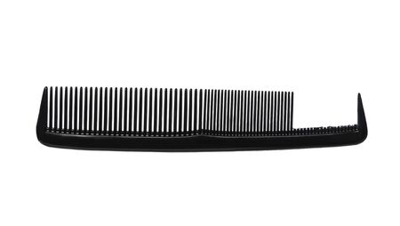 plastic comb: Broken comb on white background