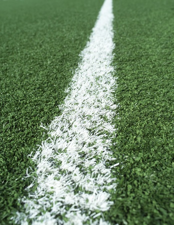 sideline: Detail on a Soccer Field