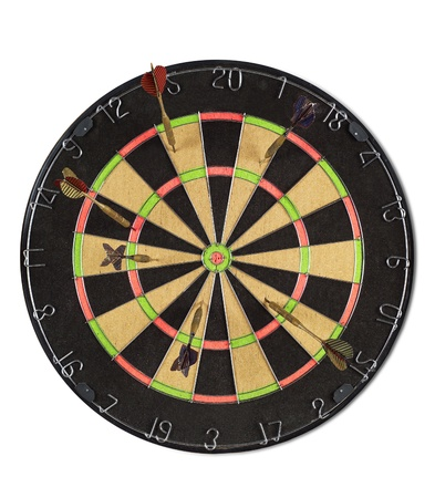 dart board: Dart Board isolated on white background Stock Photo