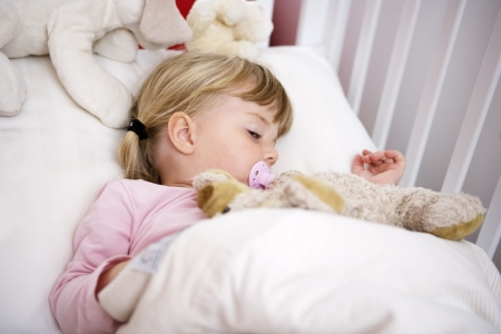 Baby Girl in her bed