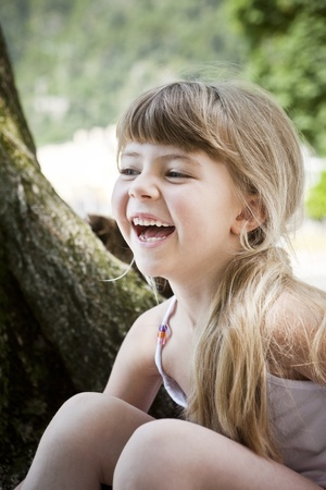 Portrait of a Laughing Girl photo