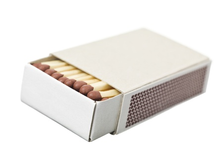 Box of Safety Matches on white background photo