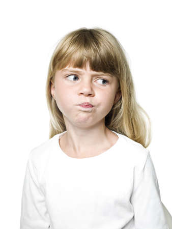 Portrait of a Little Girl making a face Stock Photo - 14767896