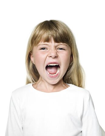 Portrait of a Screaming Girl Stock Photo - 14767908
