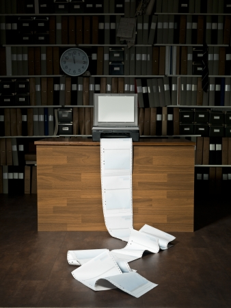 Loads of papers from the fax machine Stock Photo - 15183814