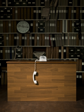 Vintage telephone at the office Stock Photo - 15183806