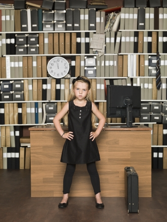 Young Female Boss at the office photo