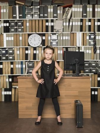 female boss: Young Female Boss im B�ro