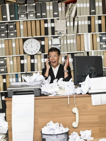 Afraid Business woman Stock Photo - 14903357