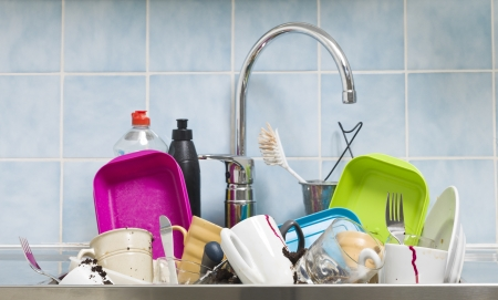 Kitchen utensils need a wash Stock Photo - 15216103