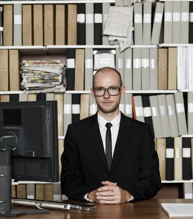 Nerdy Businessman at the office Stock Photo - 16009223