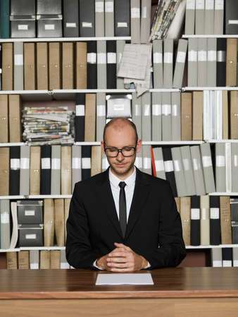Nerdy Businessman at the office Stock Photo - 16009214