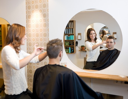 cutting hair: Adult man in a Beauty salon