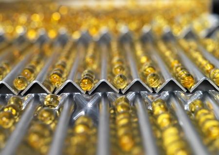 linea de produccion: P�ldoras m�dicas en l�nea de producci�n